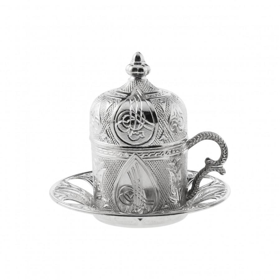 Чашка медная для кофе Sena Серебристый ажур