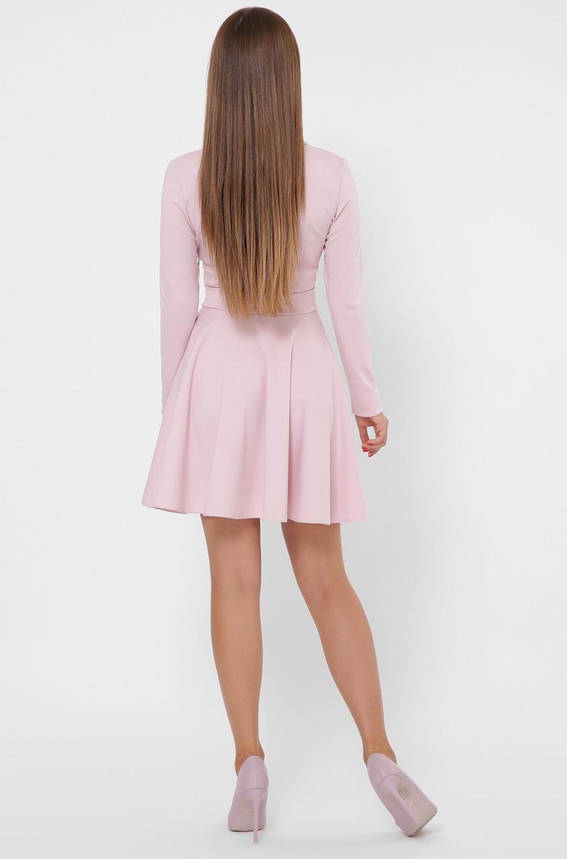 Трикотажное платье в деловом стиле цвета пудра, фото 2