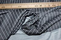 Ткань двухсторонний трикотаж, черный полоса №3,слабый стрейч, формодаржащий, плотность средняя, №293, фото 1