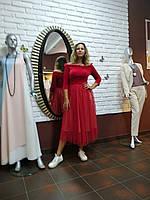 Красное бальное,выпускное платье-пачка с бархатным лифом и шикарным декольте