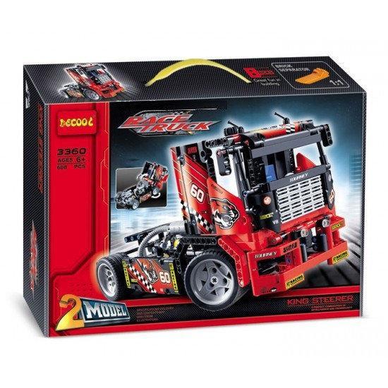 """Конструктор Decool 3360  """"Гоночный грузовик"""" (608 деталей, аналог Lego Technic 42041)"""