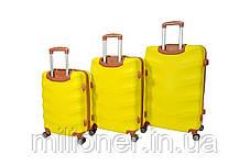 Чемодан Bonro Next набор 3 шт. желтый, фото 2