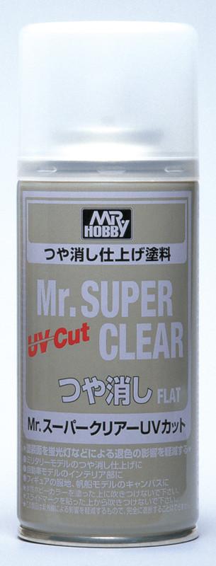 Лак для сборных пластиковых моделей матовый. Mr. Super Clear UV Cut Gloss Spray. MR.HOBBY B-523