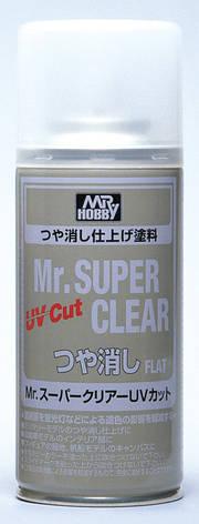 Лак для сборных пластиковых моделей матовый. Mr. Super Clear UV Cut Gloss Spray. MR.HOBBY B-523, фото 2