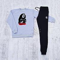 Осенний мужской спортивный костюм, чоловічий спортивний костюм Adidas Bob Marley, Боб Марли, Реплика