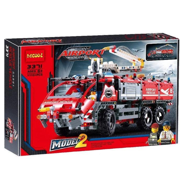 """Конструктор Decool 3371 """"Спасательный транспорт для аэропорта"""" (1110 деталей, аналог Lego Technic 42068)"""