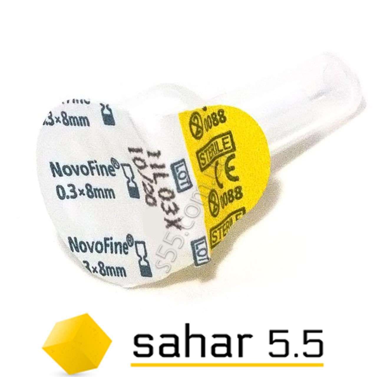 Иглы инсулиновые поштучно Новофайн 8мм - Novofine 30G