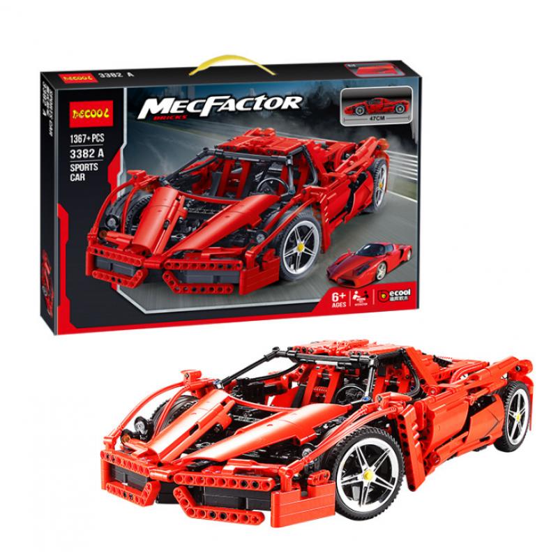 """Конструктор Decool 3382А """"Гоночный автомобиль Enzo Ferrari"""" (1367 деталей, аналог Lego Technic 8653)"""