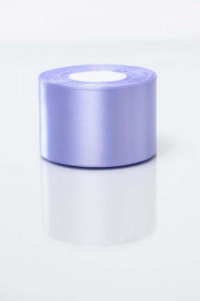 Лента атласная 5см фиолетовая (191) 25ярд