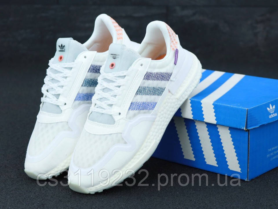 Мужские кроссовки Adidas Common Wealth ZX500  (белые)