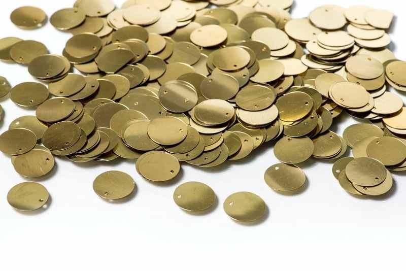 Пайетка золотая (100г)