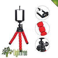 Гибкий мини штатив тринога трипод для телефона и камеры 25 см (паук,осьминог) выбор цвета