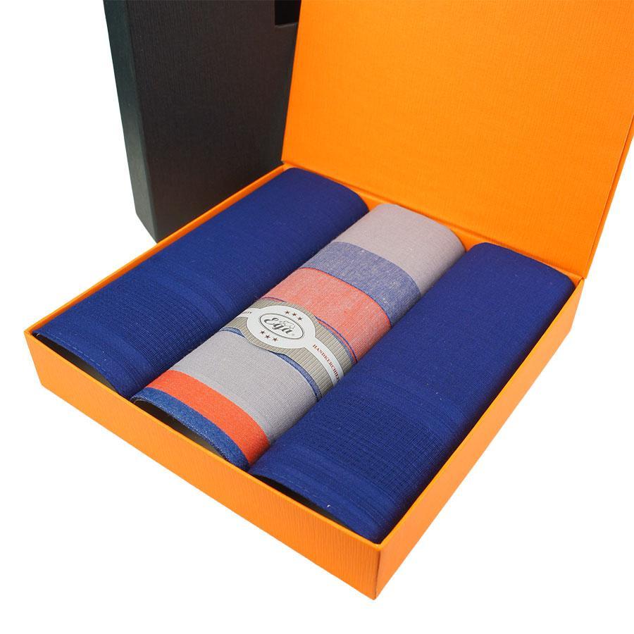 Польские носовые платки для настоящих мужчин в подарочной упаковке EGA 3 шт CH-561/3 С