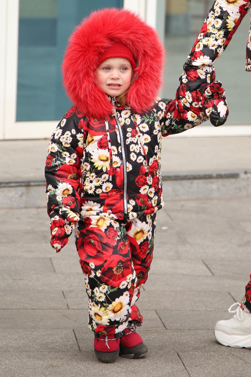 Детский зимний костюм и комбинезон с натуральным мехом и на овчине,варежки в комплекте