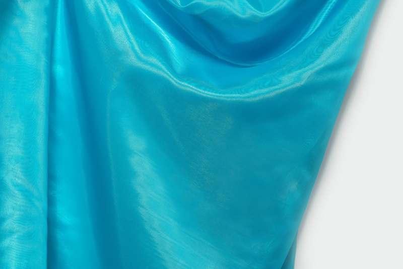 Ткань Кристалин, голубой, м