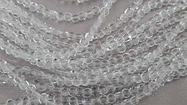 Хрусталь на нитке #4 калачик прозрачный (100шт)