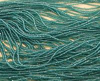 Хрусталь на нитке #4 плоский аквамарин (150шт)