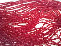 Хрусталь на нитке #4 плоский бордовый (150)