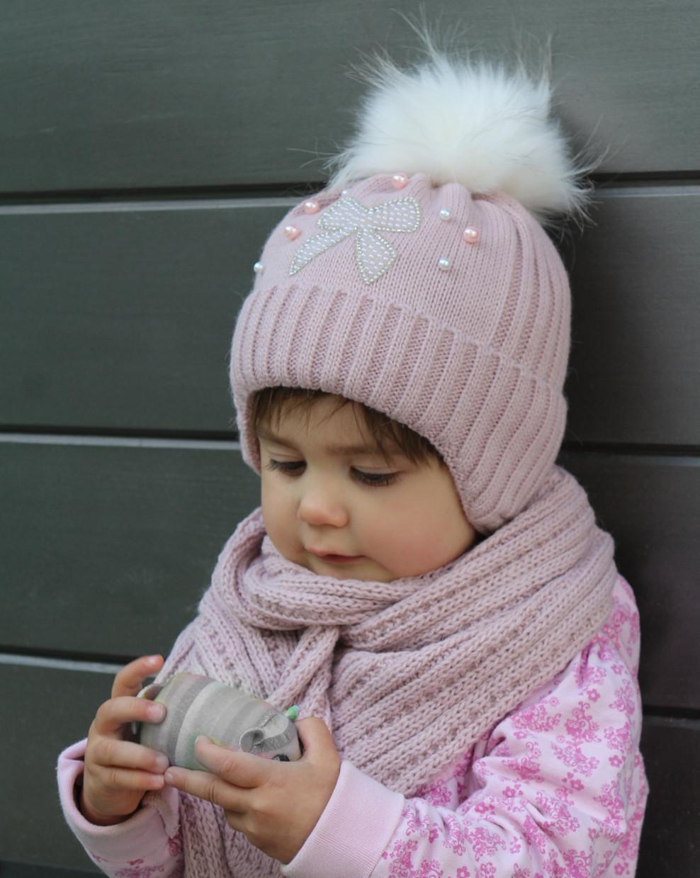 Шапка зимняя детская Бантик (зима)