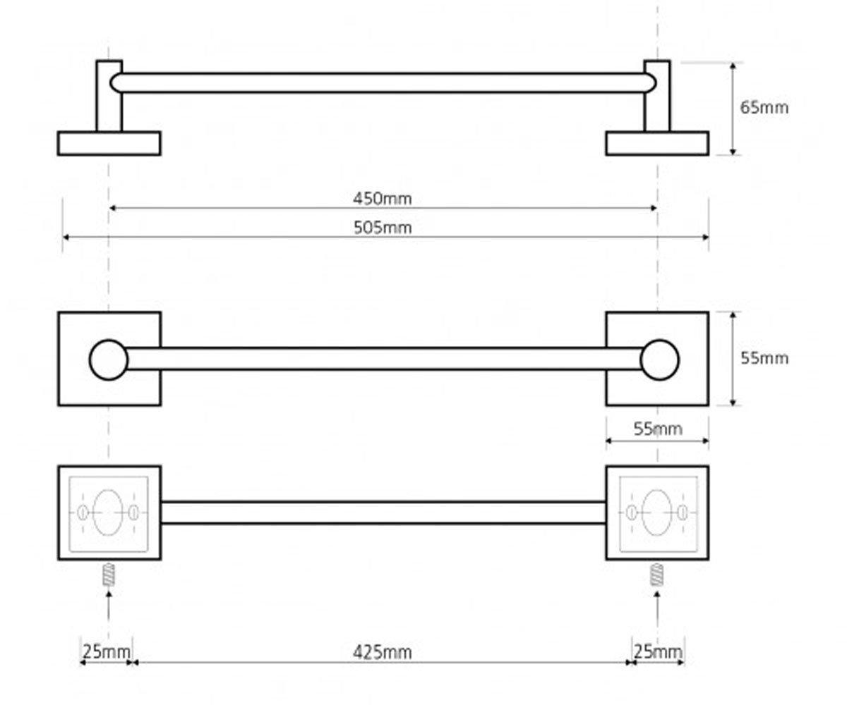 Вешалка для полотенец 505 мм BEMETA BETA 132104022 2