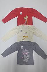 Блуза для девочки с вышивкой 28-34 р-р интерлок.