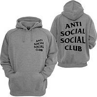 Толстовка с принтом Anti social social club | худи assc лого, фото 1