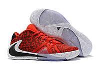 Баскетбольные кроссовки Nike Zoom Freak 1 Camo Red Реплика, фото 1