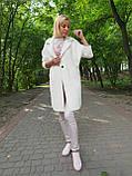 Біле пальто-кардиган з вовни альпаки, фото 2