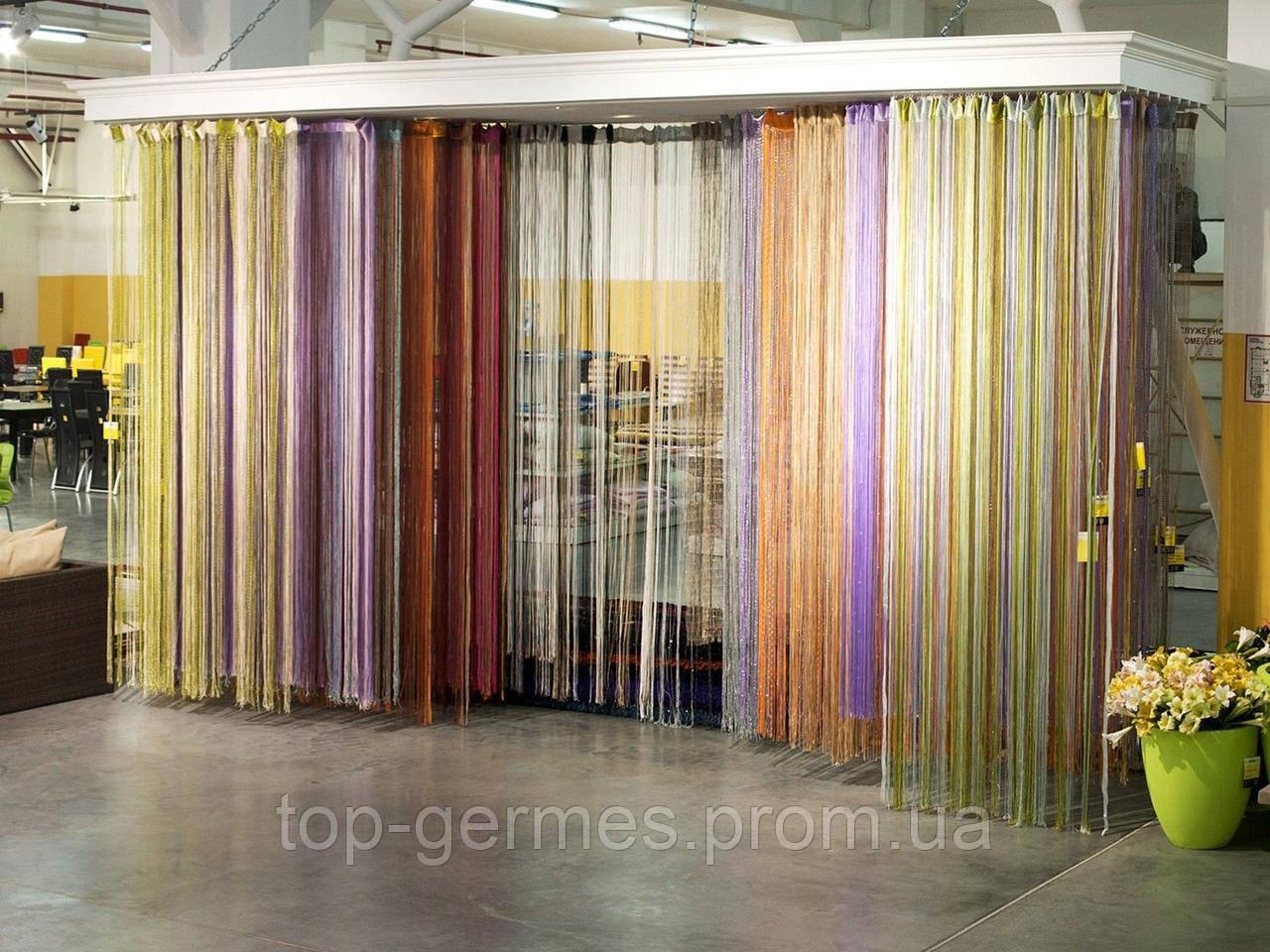 Цветные нитевые шторы на выбор