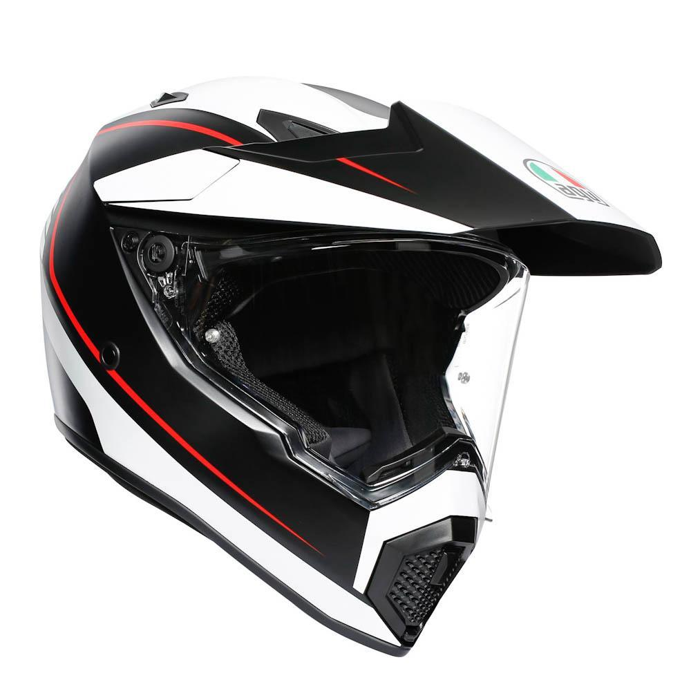 Мотошлем AGV AX9 PACIFIC ROAD MATT BLACK/WH/RED, L 2019