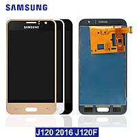 Дисплей сенсор модуль для Samsung Galaxy J1 2016 J120H/DS J120H с регулировкой яркости