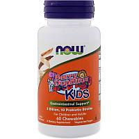 """Пробиотики для детей NOW Foods """"BerryDophilus"""" 2 млрд КОЕ, вкус ягод (60 жевательных таблеток)"""