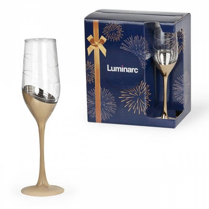 Набор бокалов для шампанского LUMINARC СЕЛЕСТ ЗОЛОТОЕ КОЛЬЦО (P1651/1), фото 2