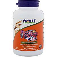 """Пробиотики для детей NOW Foods """"BerryDophilus"""" 2 млрд КОЕ, вкус ягод (120 жевательных таблеток)"""