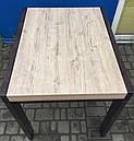 Стол обеденный Слайдер Венге/ ДУБ ШЕРВУД, 81,5(+81,5)*67см, фото 3