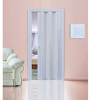 Дверь гармошкой глухая. №822. Цвет: белый 2030мм/810мм/1мм