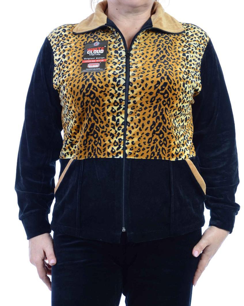 Велюровый женский спортивный костюм K111-4
