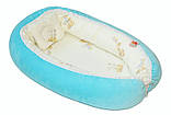 Переноска для новорожденных детей голубая, фото 3