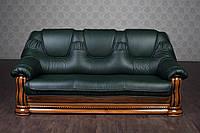 """Классический кожаный диван, прямой кожаный диван """"Гризли"""", под заказ, от производителя, без предоплаты"""