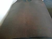 Натуральная кожа ременной чепрак (краст) структурный, цвет темно - коричневый , толщина 4мм