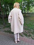 Пальто -кардиган молочное из шерсти альпака, фото 2