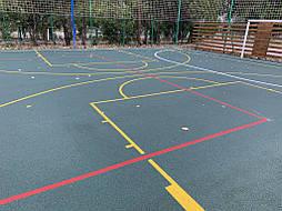 Бесшовное покрытие для спортивной площадки г.Херсон, школа № 41 6