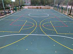 Бесшовное покрытие для спортивной площадки г.Херсон, школа № 41 7