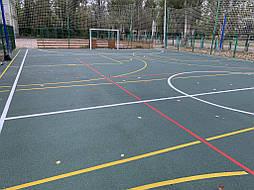 Бесшовное покрытие для спортивной площадки г.Херсон, школа № 41 10