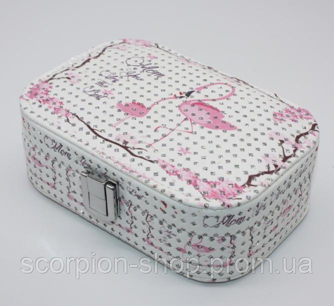 """Шкатулка для украшений """"Flamingo"""" (15*10*5 см) кожзам"""