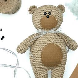 Комплектация для мастер-класса по вязанию игрушки «Мишка»