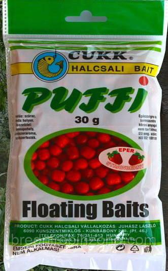 Воздушное тесто Cukk Puffi Midi 6-10мм 30г Клубника / red (strawberry)