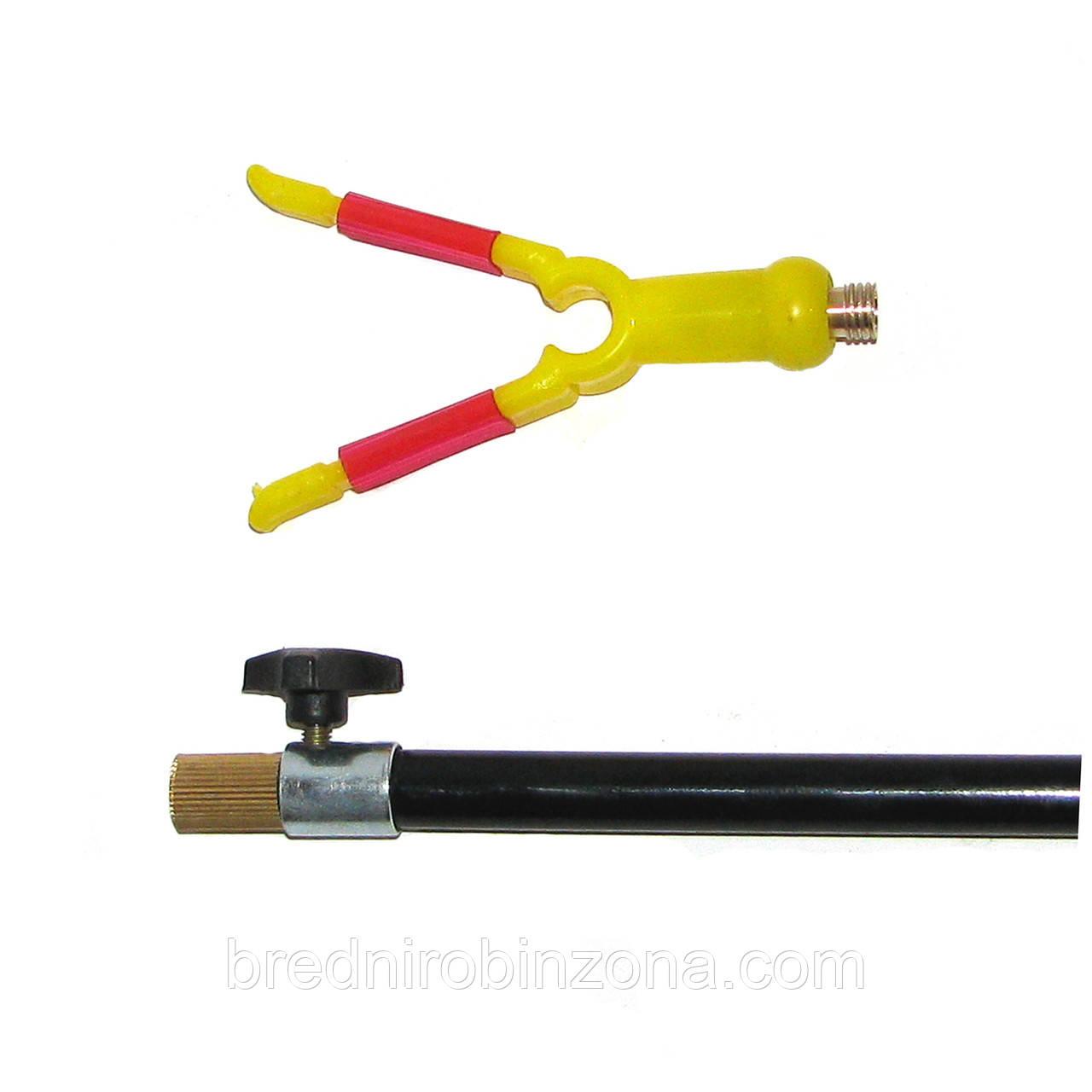 Телескопическая подставка под удочку  1.3м (рогачик желтый)