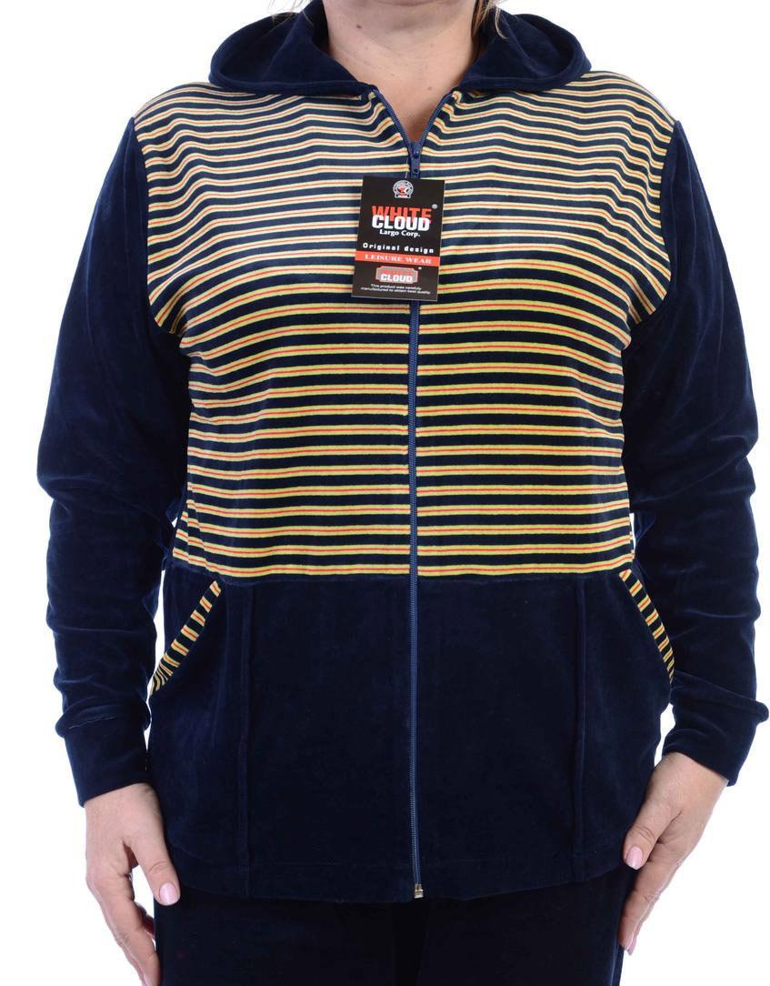 Велюровый женский спортивный костюм K101-4