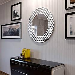 Зеркало настенное круглое Dublin серебряное